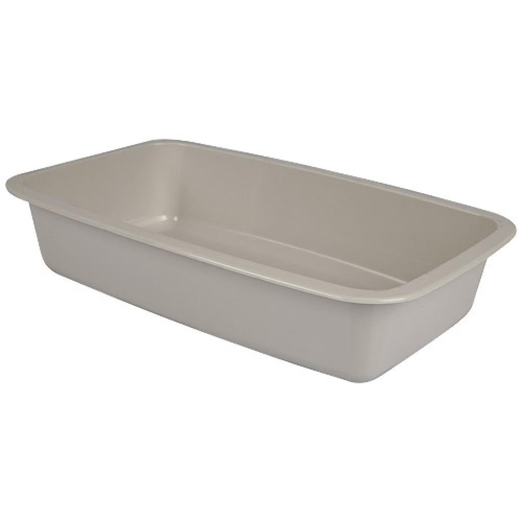 Grey GN 1/4 plastic container, 55mm depth