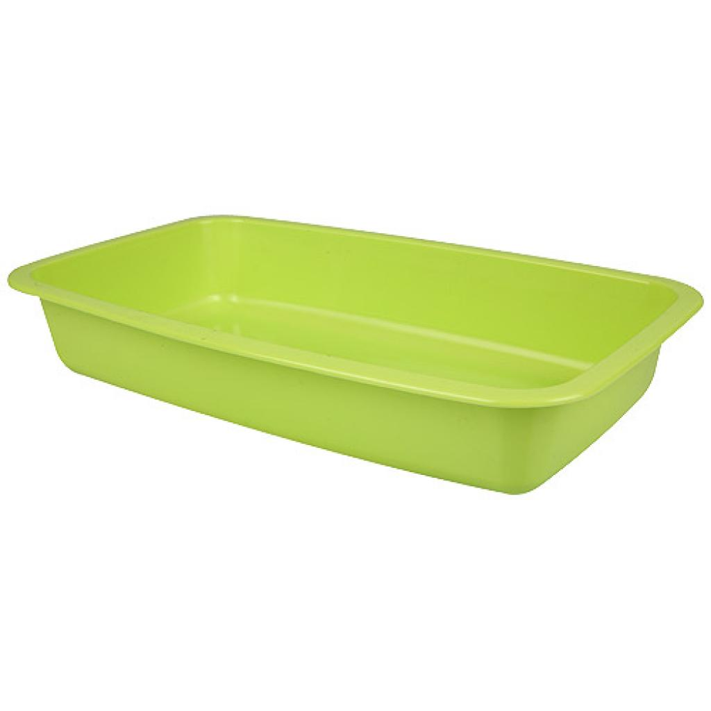 Green GN 1/4 plastic container, 45mm depth