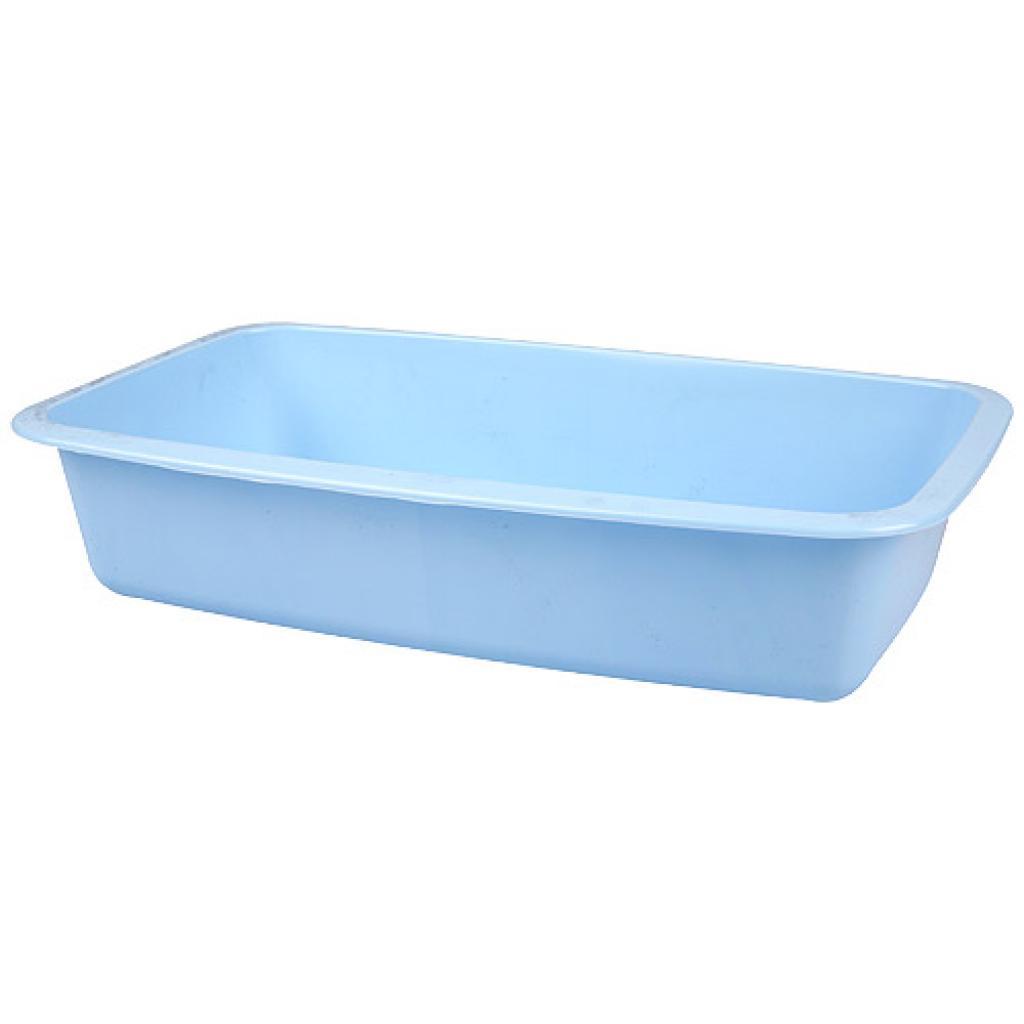 Barquette plastique GN 1/4 bleue h 55 mm