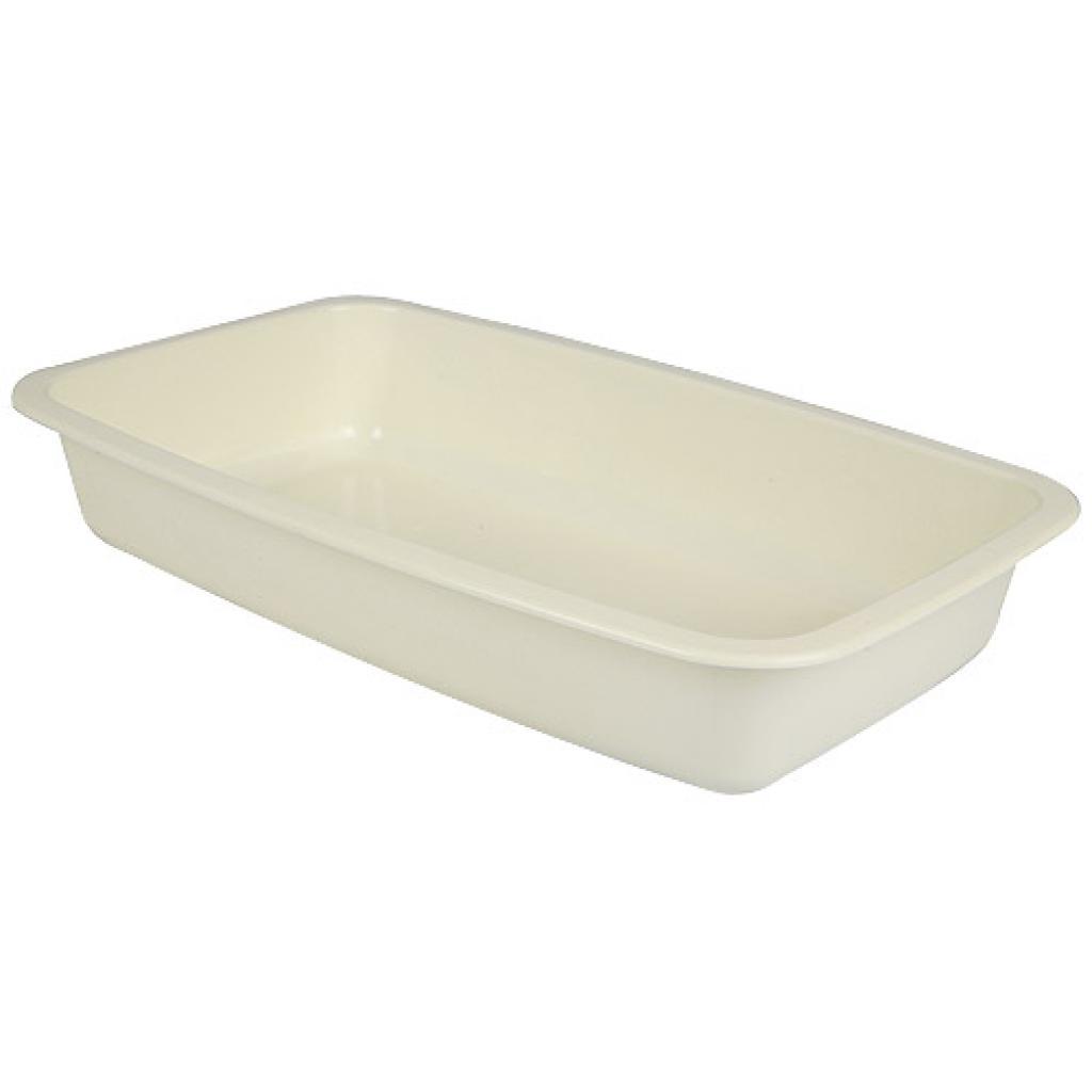 Beige GN 1/4 plastic container, 45mm depth