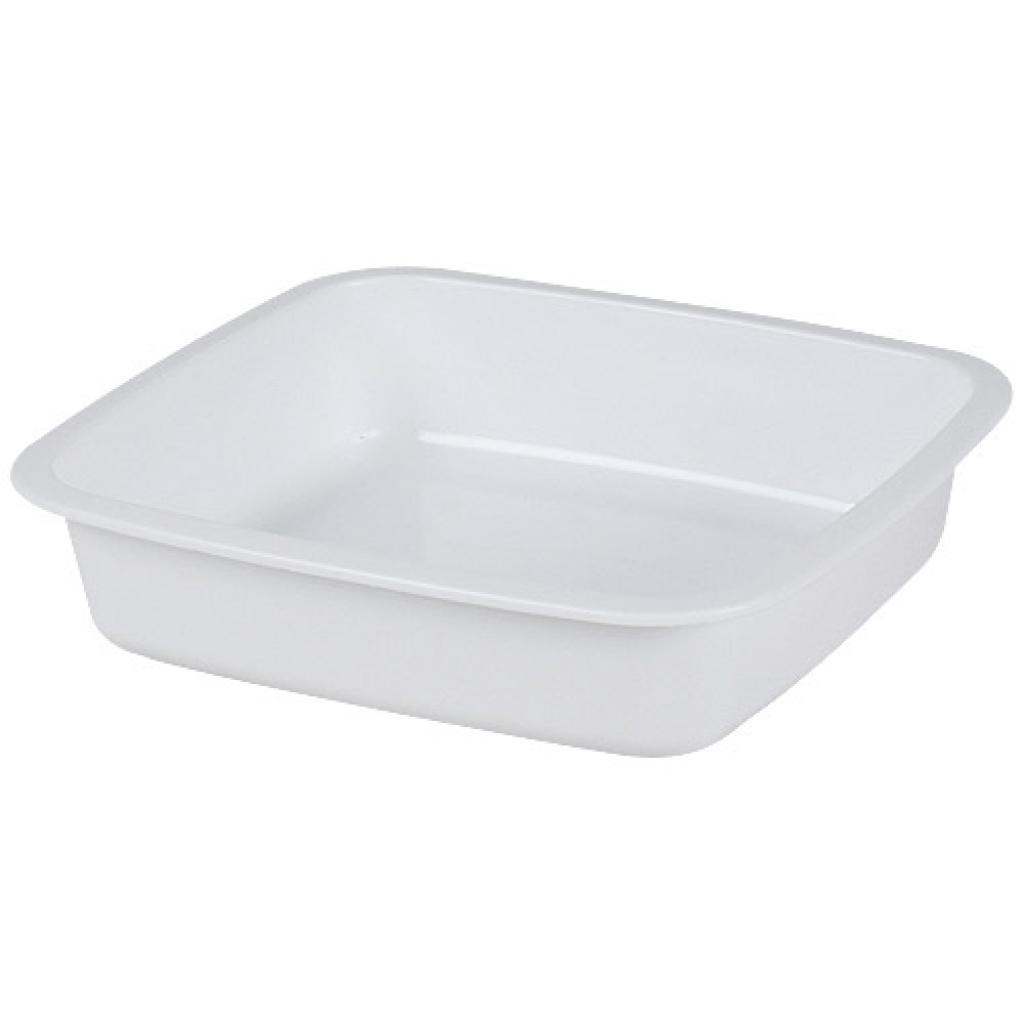 White GN 1/6 plastic container, 40mm depth