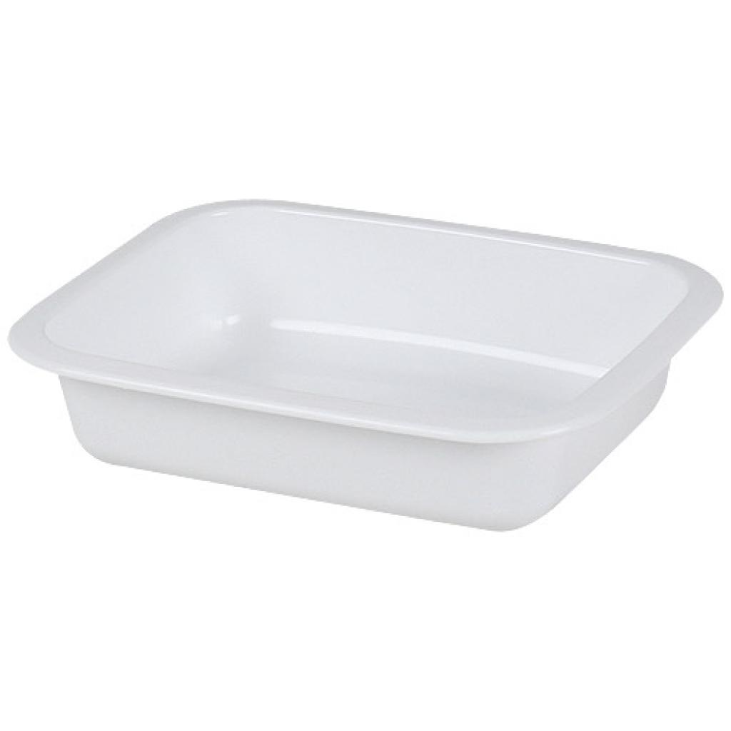 White 1/8 GN plastic container, 42mm depth