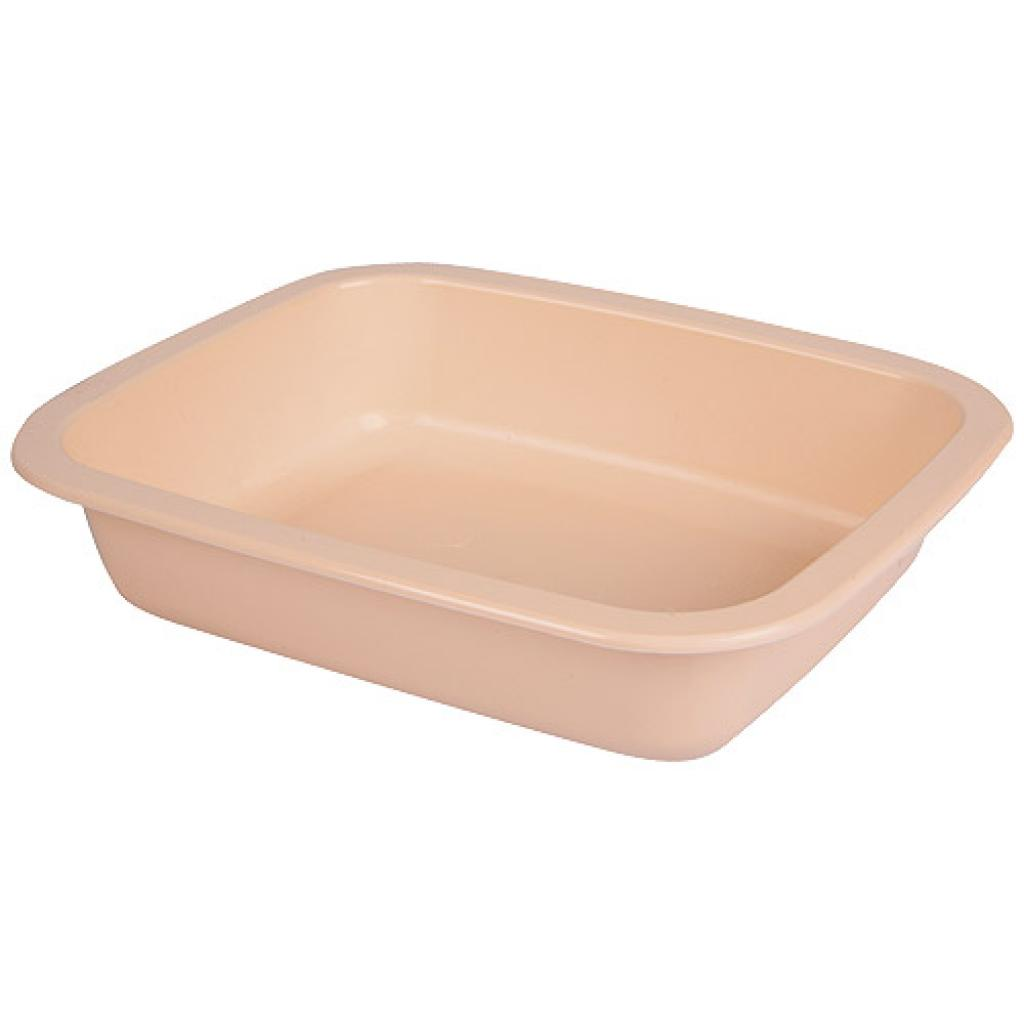 Salmon pink 1/8 GN plastic container, 36mm depth