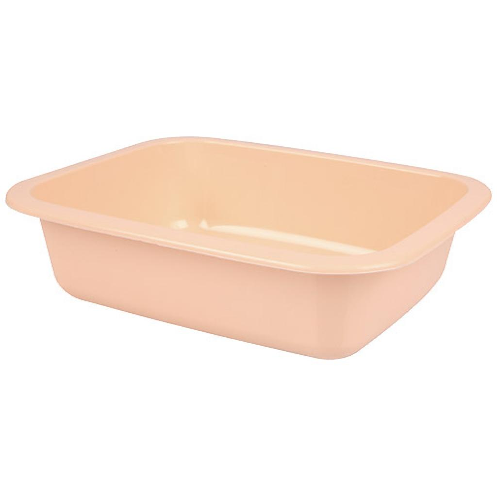 Salmon pink 1/8 GN plastic container, 42mm depth