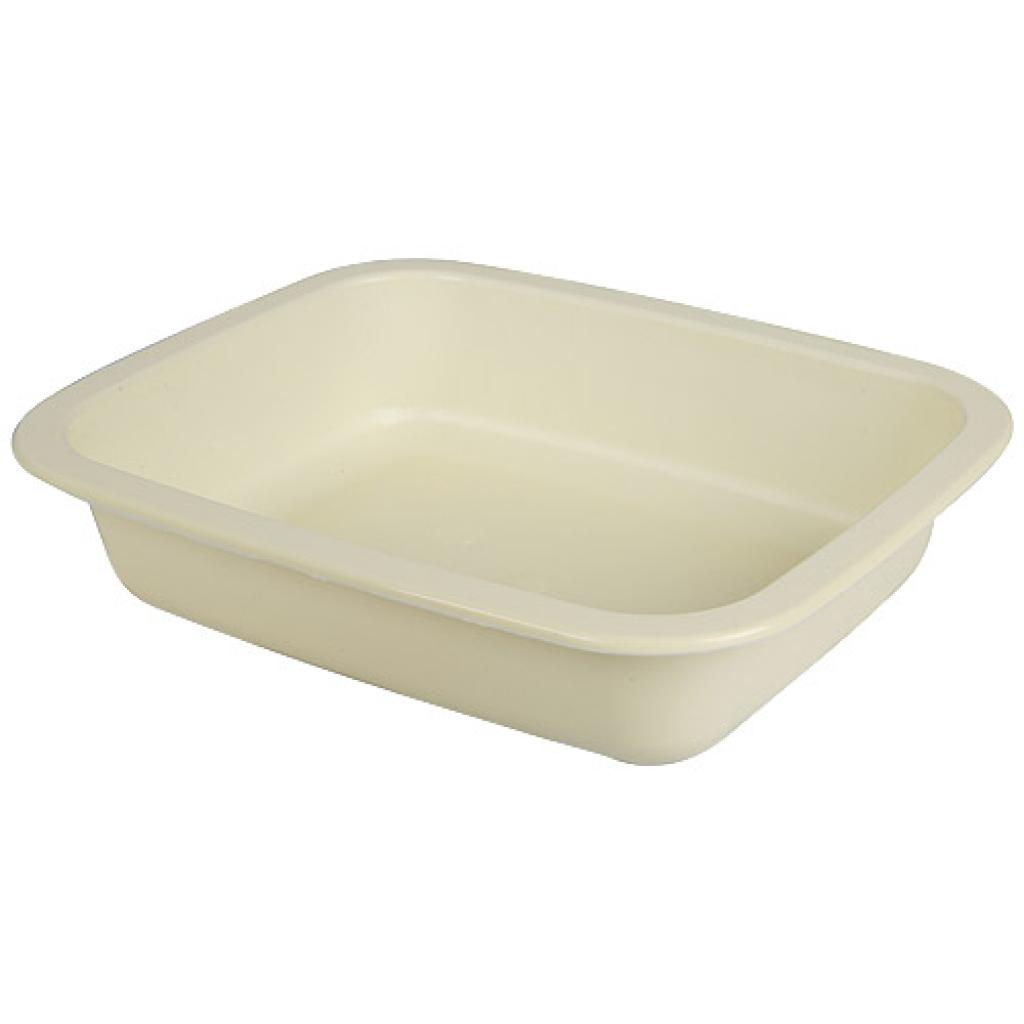 Beige GN 1/8 moulded plastic container, 36mm depth