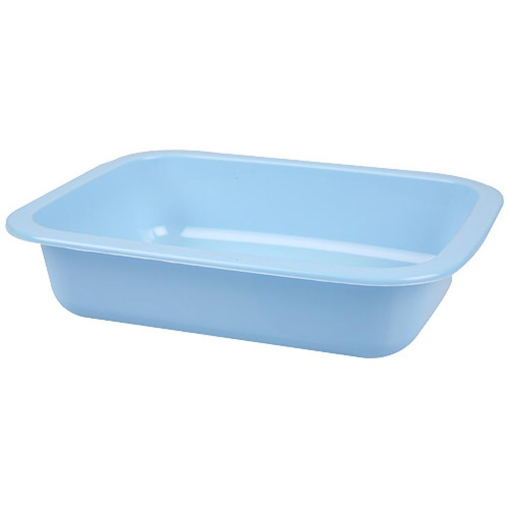 Blue GN 1/8 moulded plastic container, 36mm depth