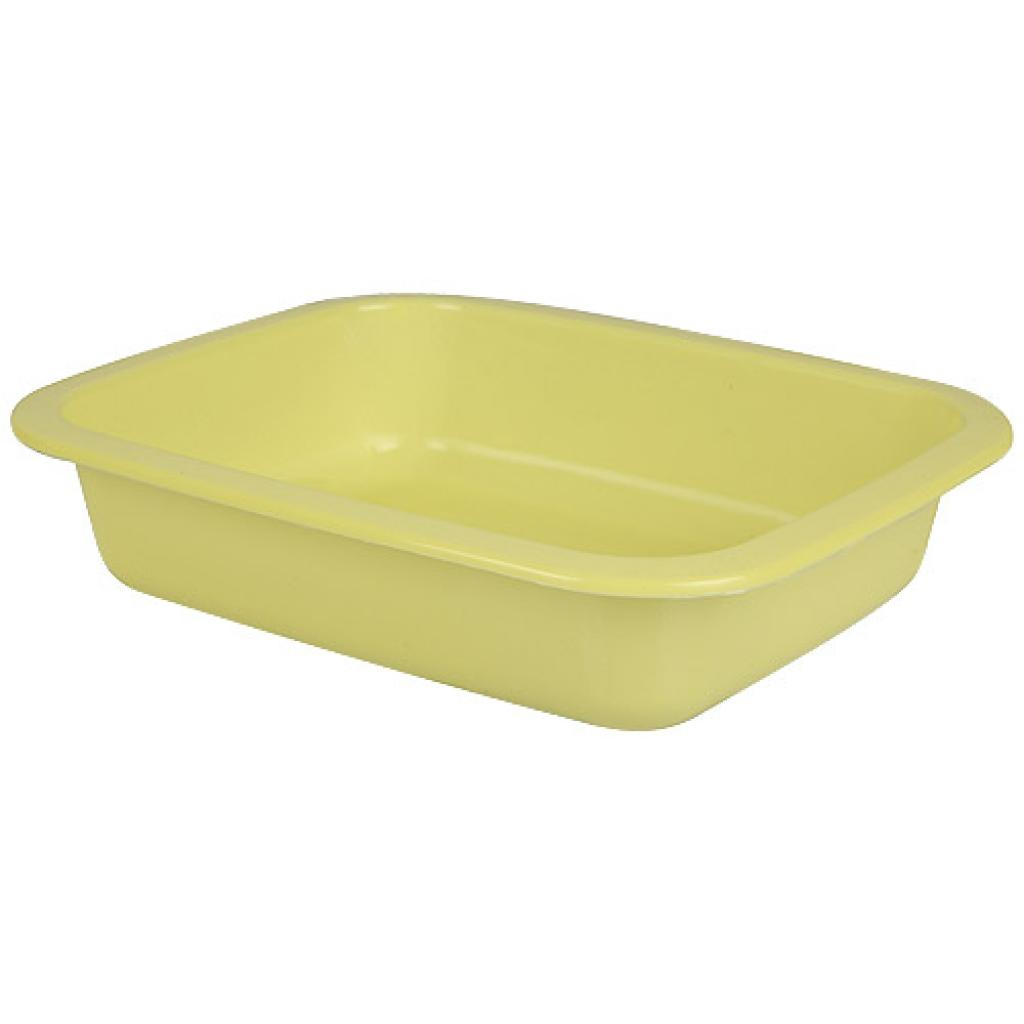 Yellow GN 1/8 moulded plastic container, 36mm depth