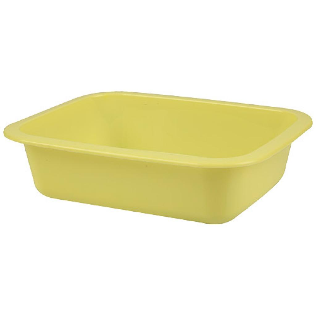 Yellow GN 1/8 moulded plastic container, 42mm depth
