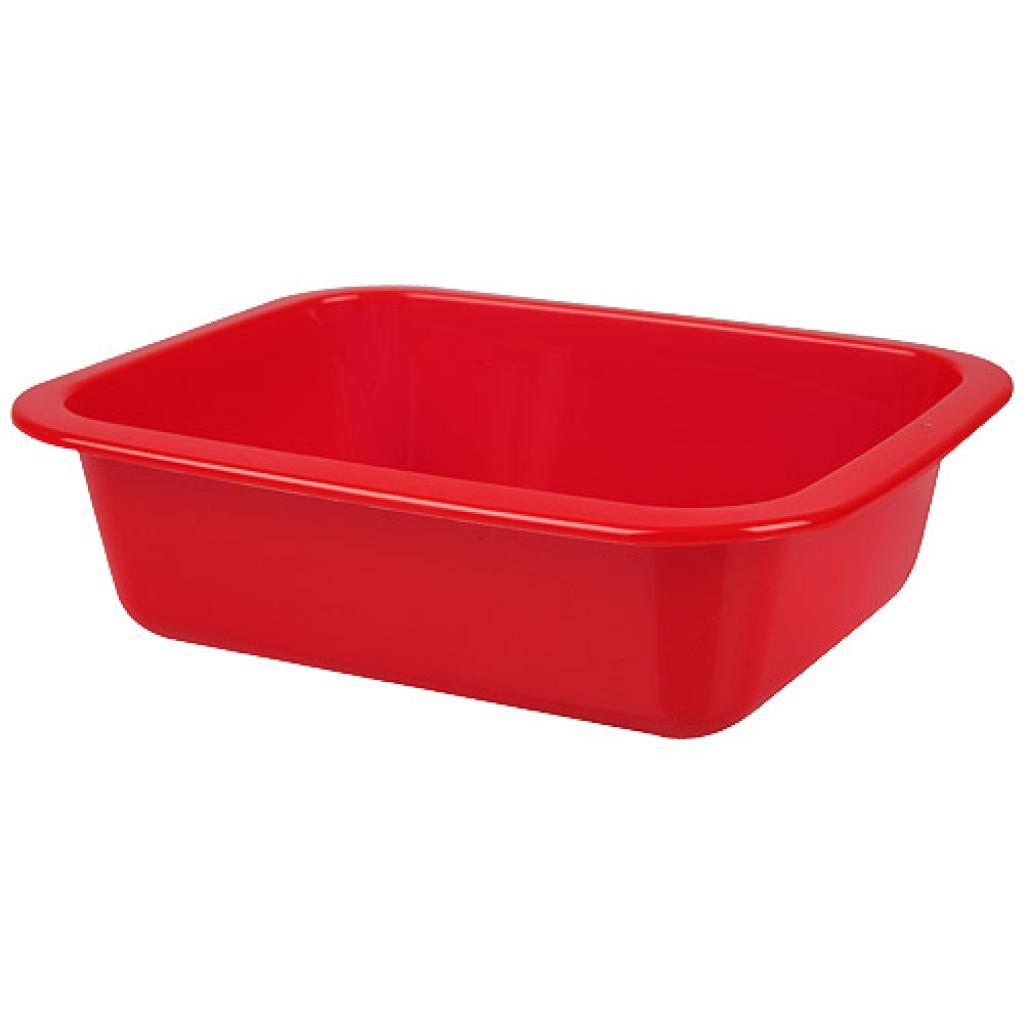 Red GN 1/8 moulded plastic container, 45mm depth