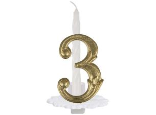 N°3 ordinary numbered candle