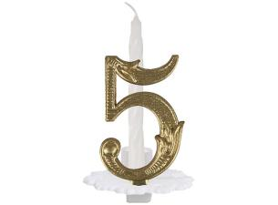 N°5 ordinary numbered candle