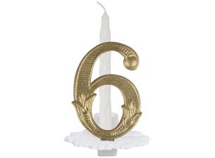 N°6 ordinary numbered candle
