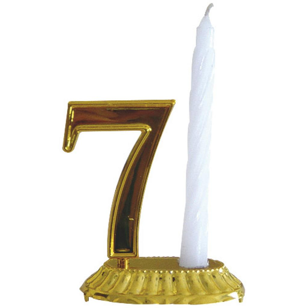 White candle for golden number base