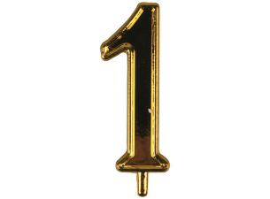 Golden plastic number 1 for candles