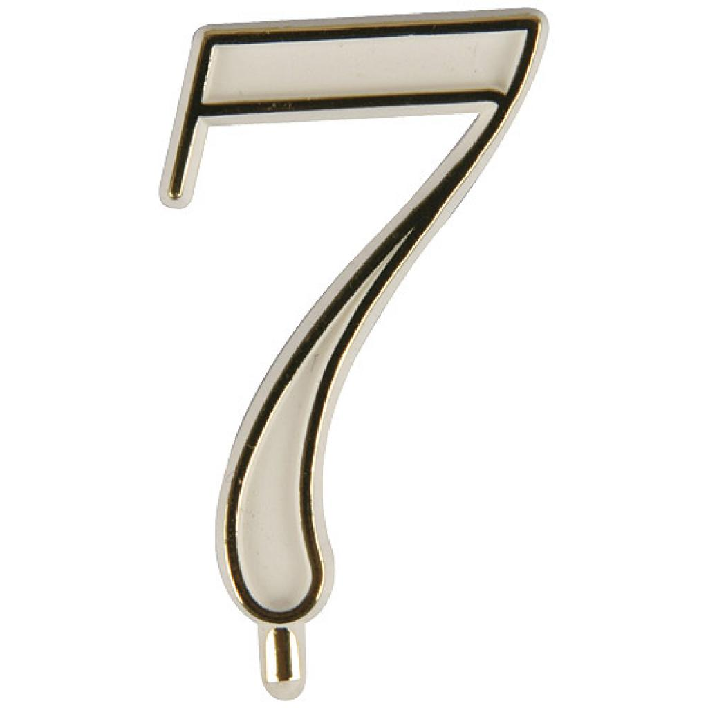 White plastic number 7 for candles
