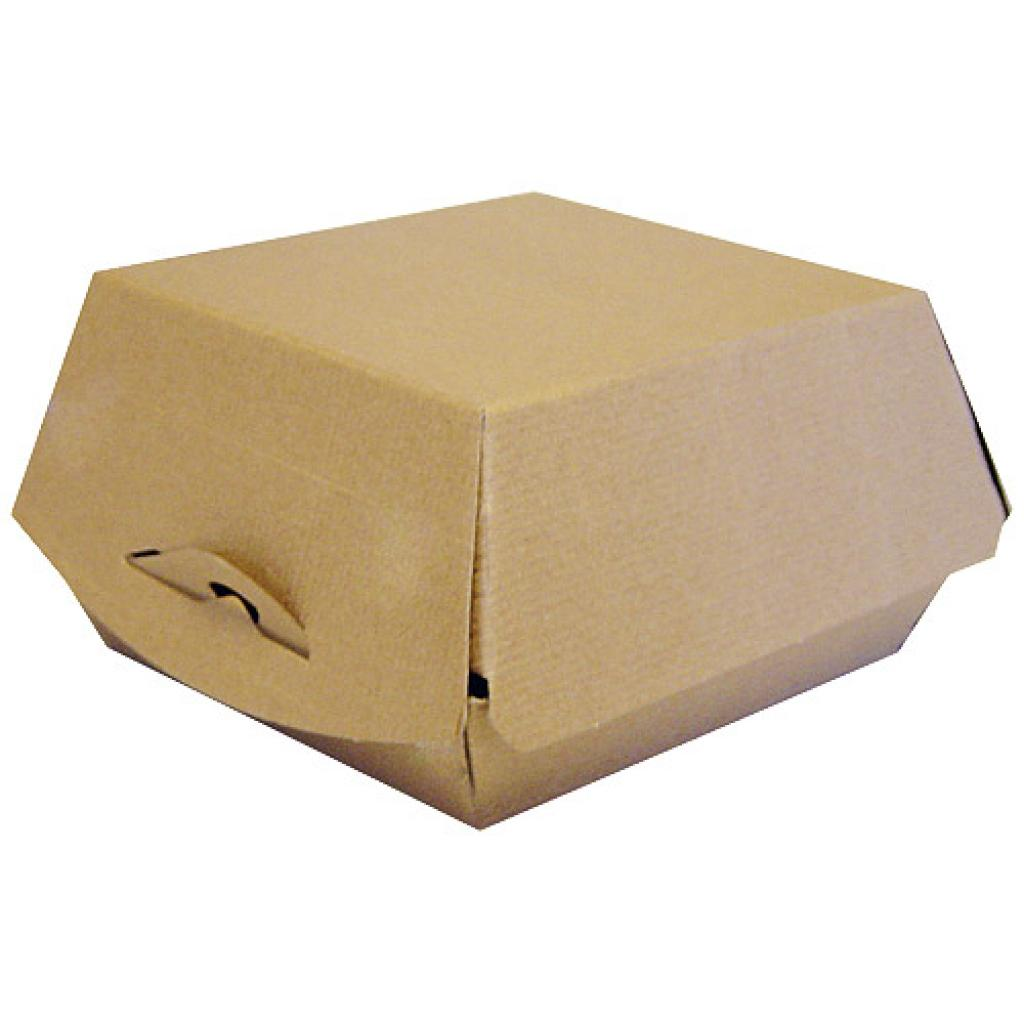 Brown kraft paperboard hamburger box 110x104x75 mm 2