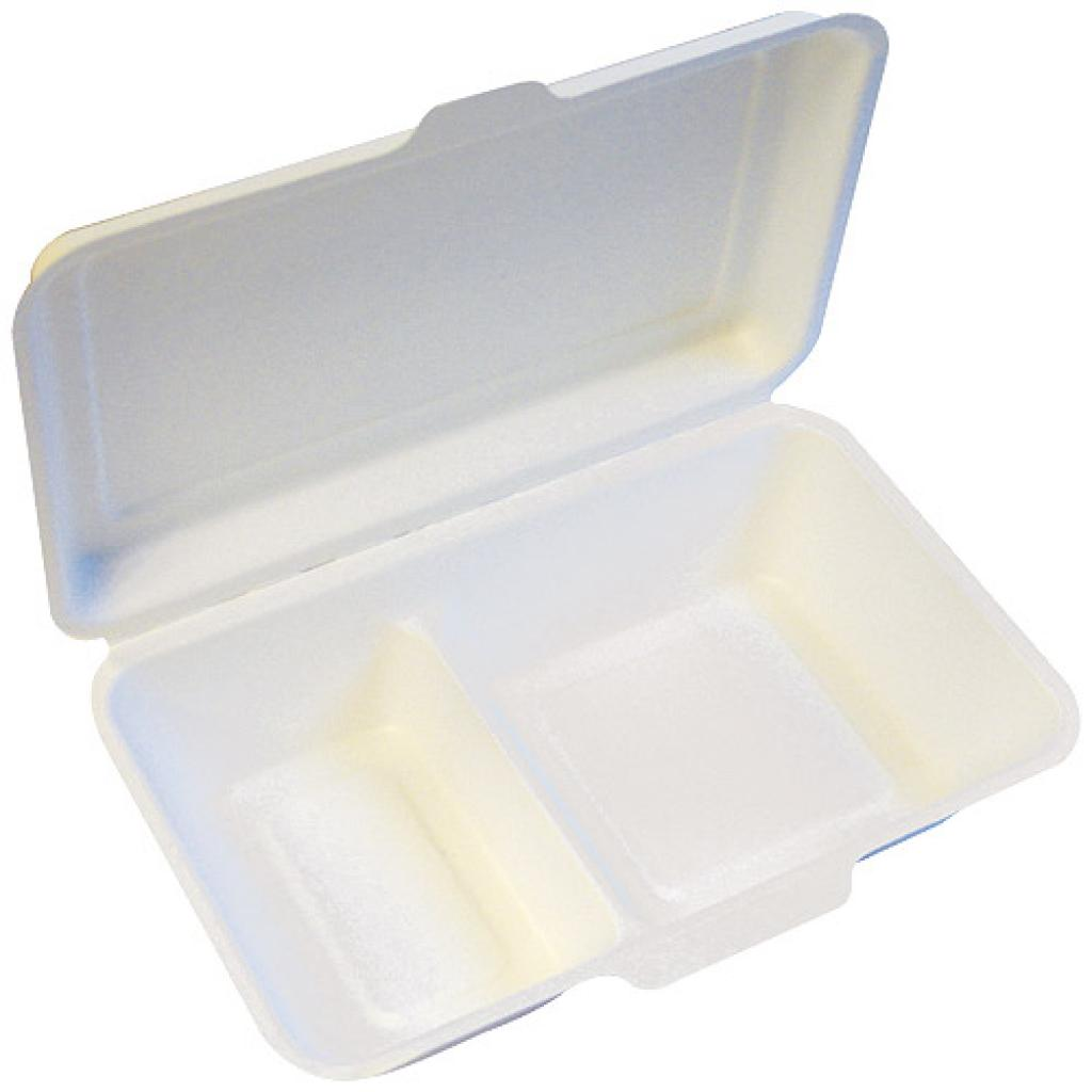 Double compartment pulp box, 24x15,5 cm