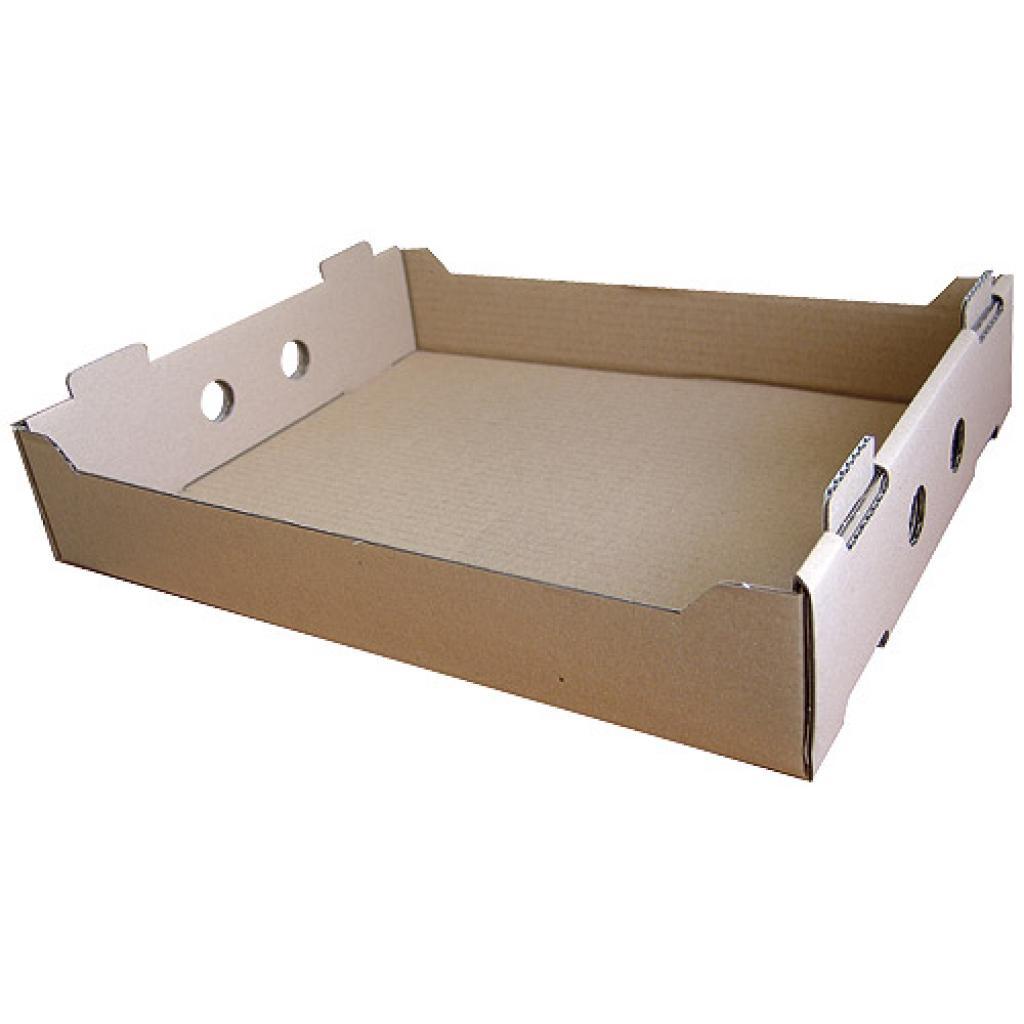 Kraft cardboard caterer's crate 370x300x70 mm