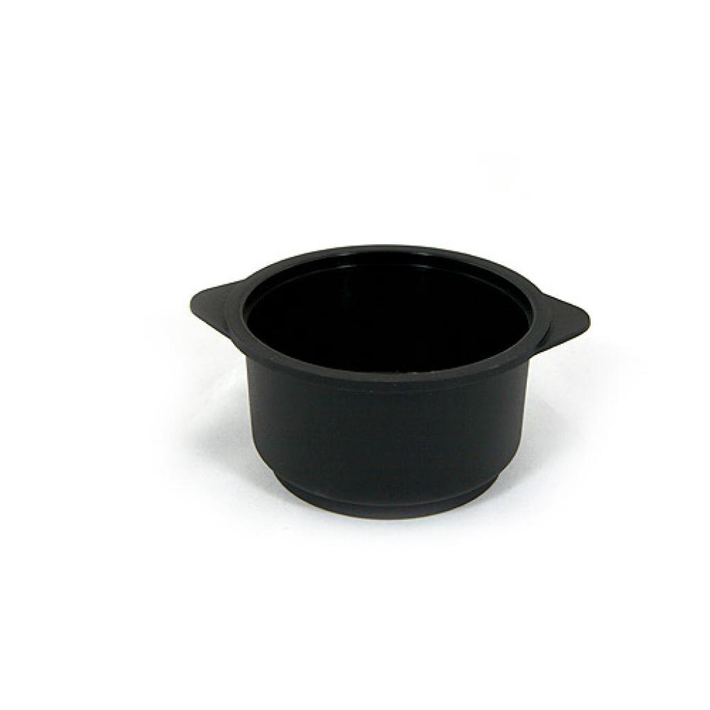 Verrine cocotte ronde en PP noire 30 cl 2