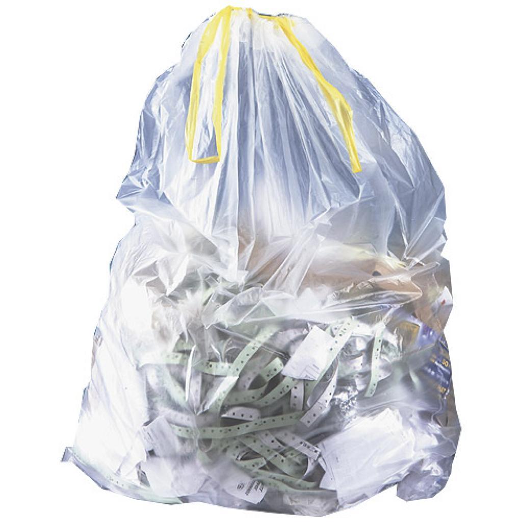 Sac poubelle en PE transparent 110 L ***