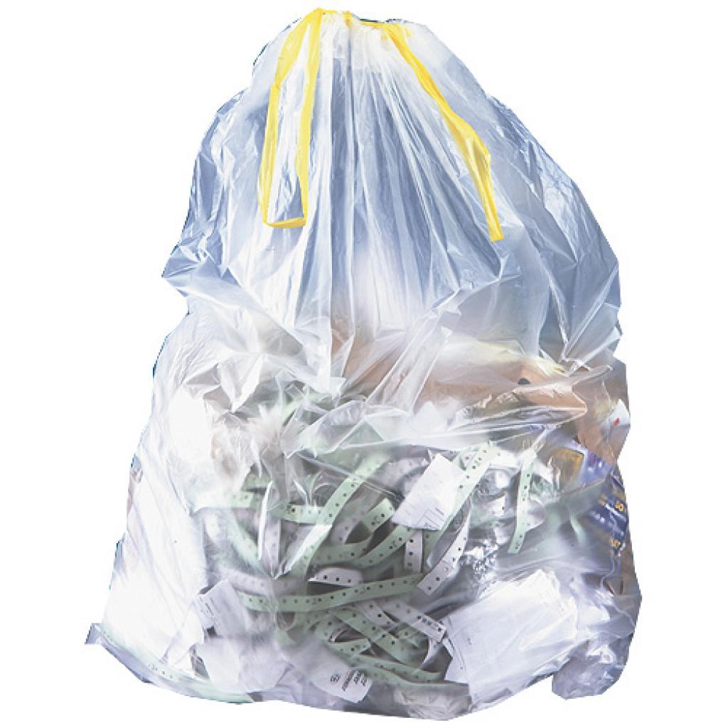 Sac poubelle en PE transparent 160 L ***