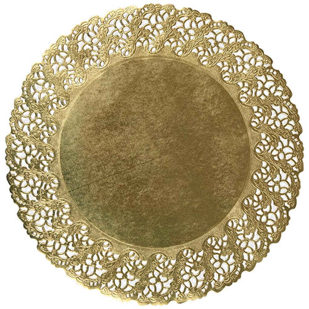Circular golden paper doily Ø 26 cm