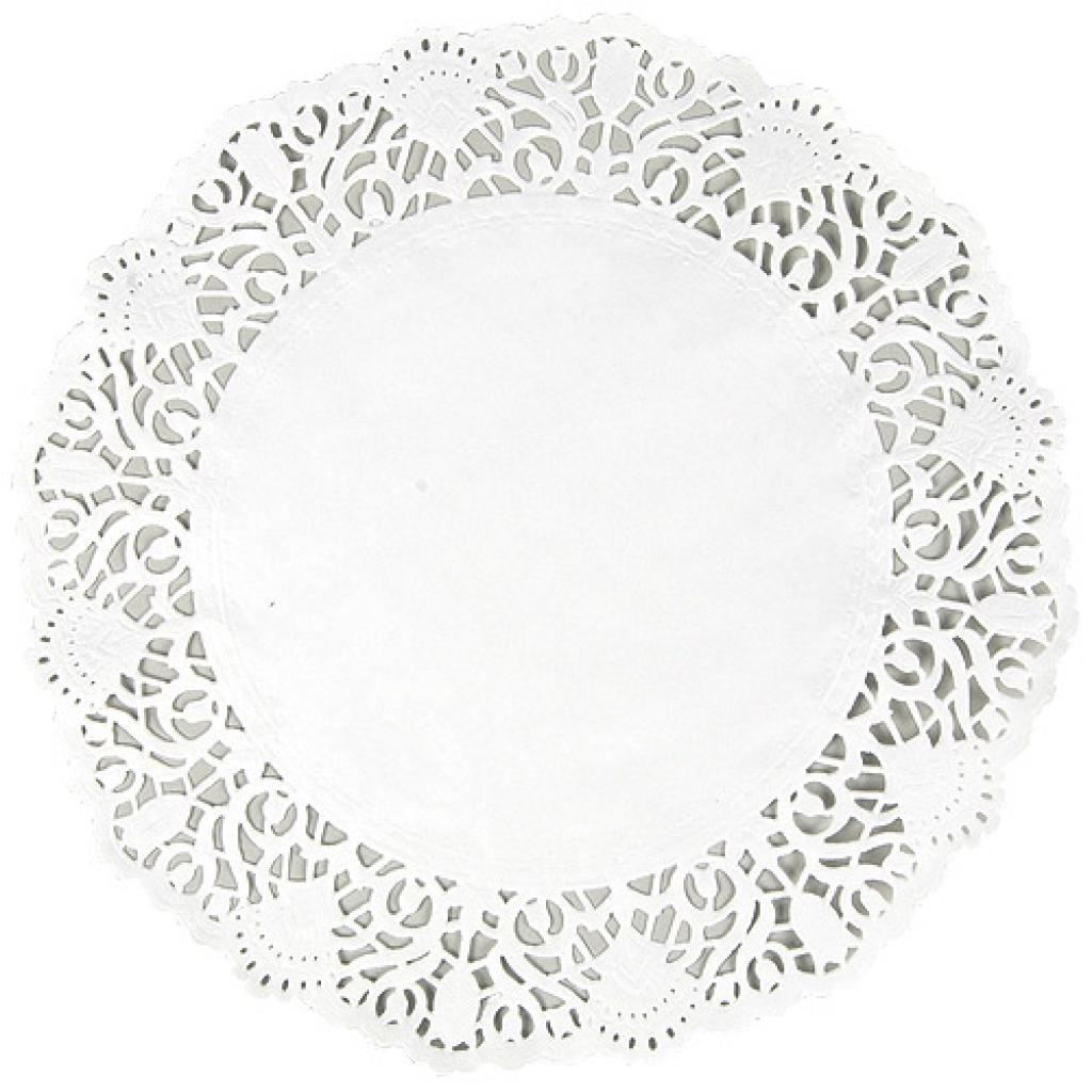 Circular white paper doily Ø 12 cm 2