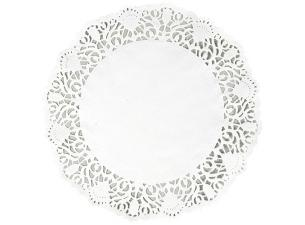 Circular white paper doily 17 cm