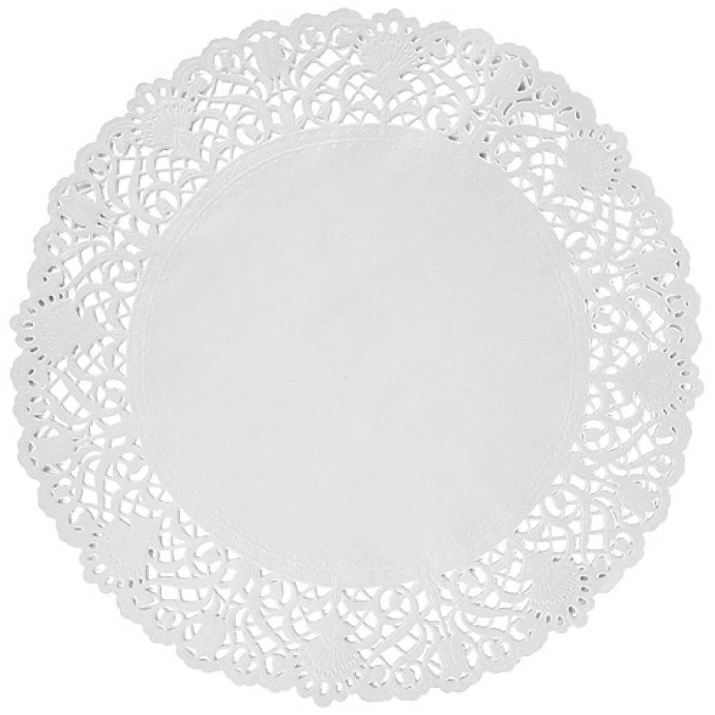 Circular white paper doily Ø 30 cm