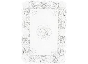 Dentelle rectangle en papier blanc 35x25 cm