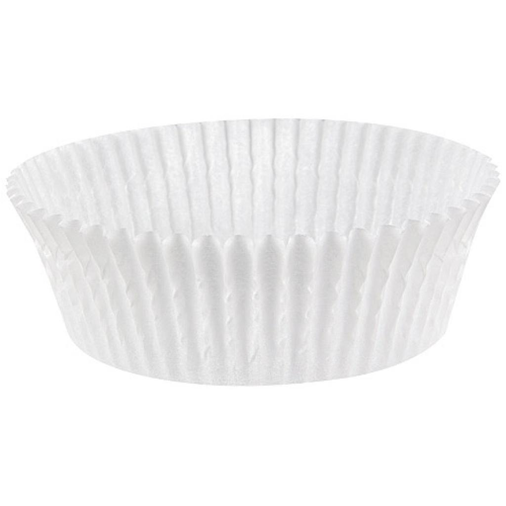 White pleated paper bun case n°10