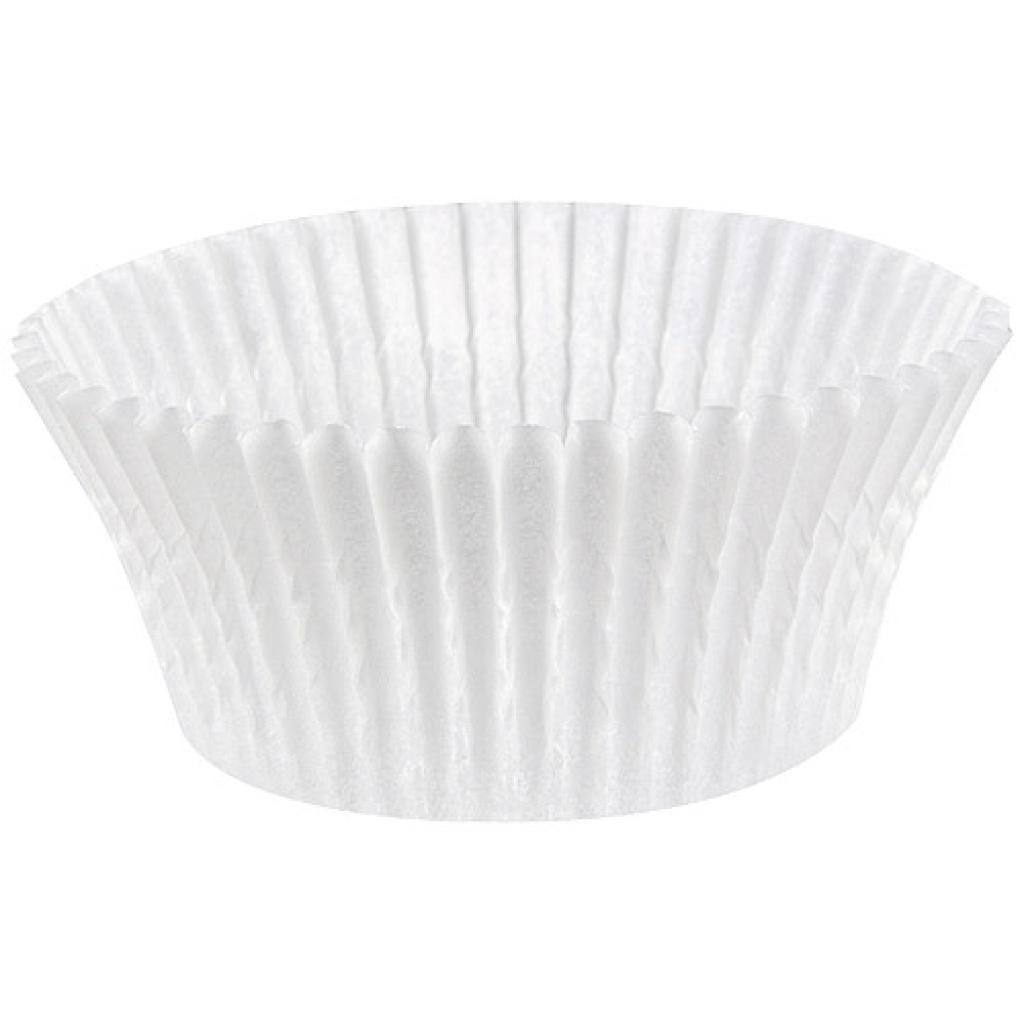 Caissette plissée ronde papier blanc n°1201