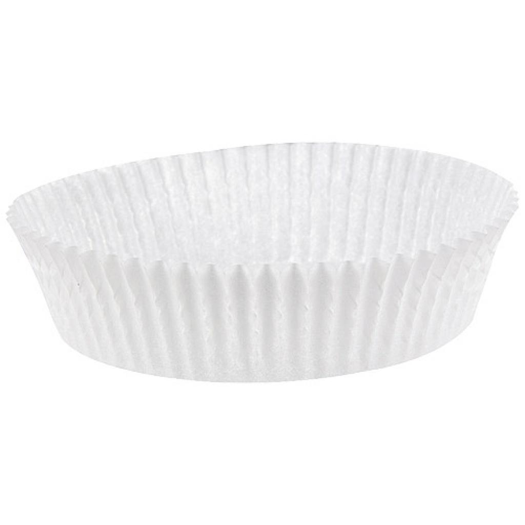 Caissette plissée ronde papier blanc 70x20 mm