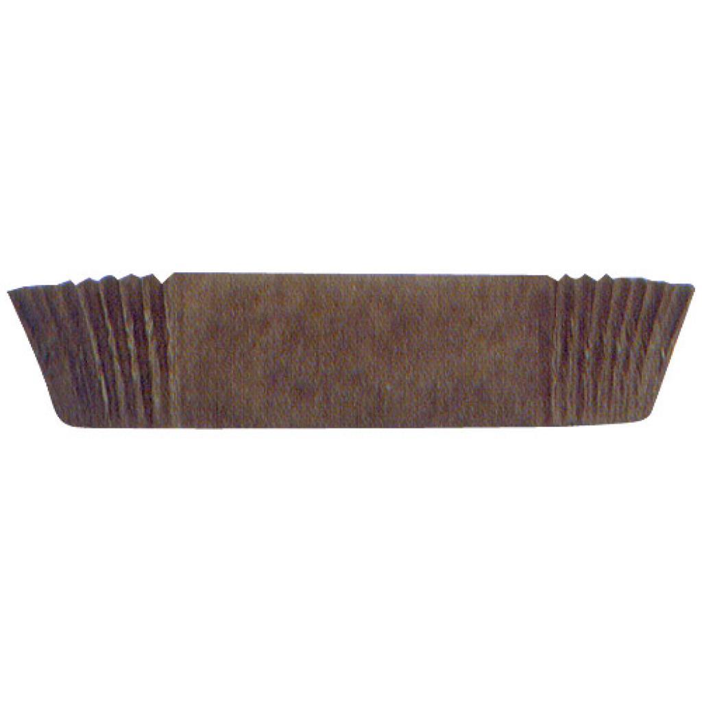 Circular brown pleated paper bun case n°1203