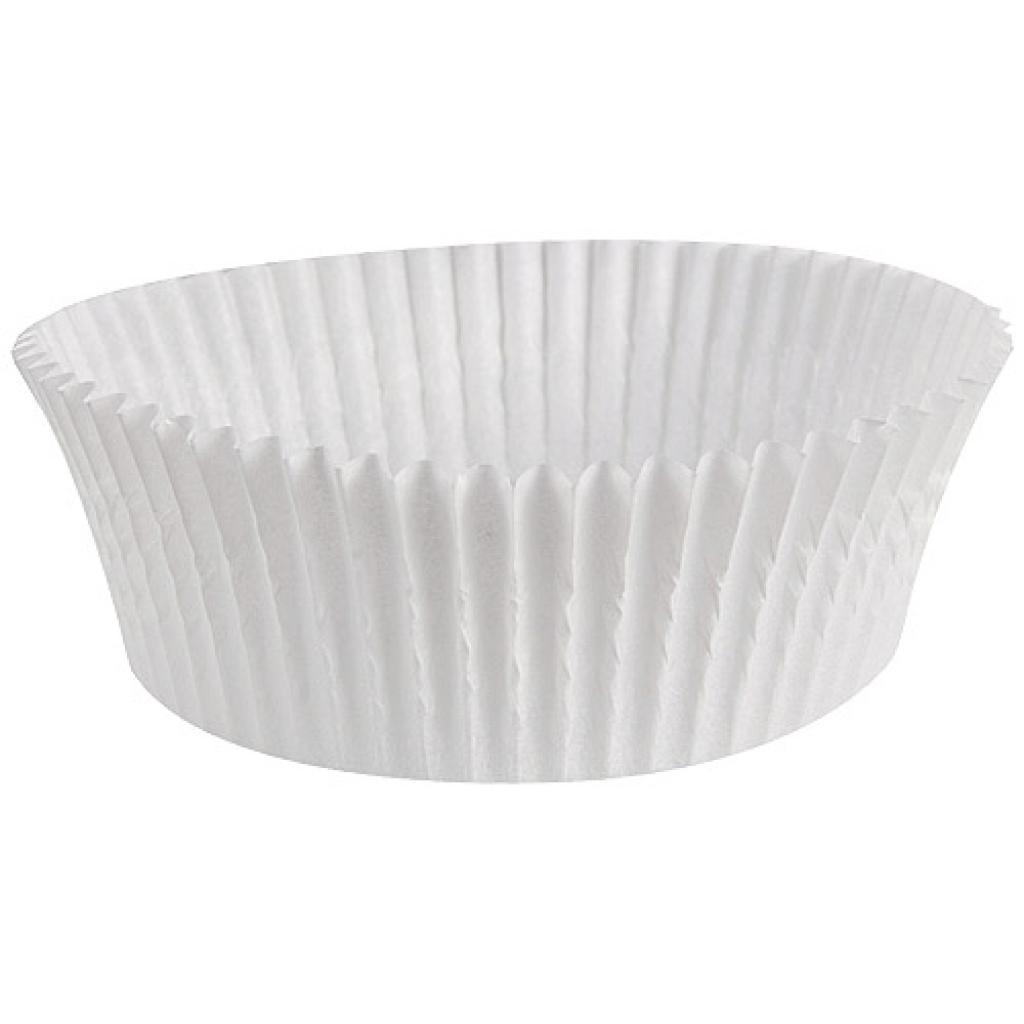 White pleated paper bun cases n°1207