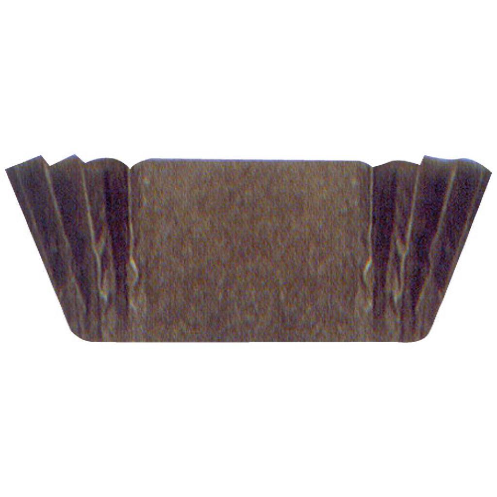 Circular brown pleated paper bun case n°6
