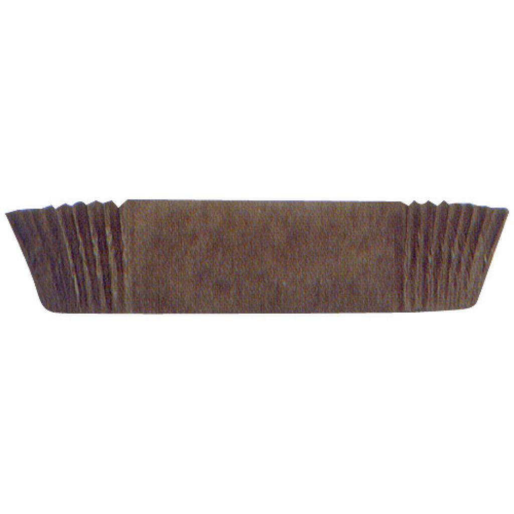 Brown pleated paper bun cases n°88