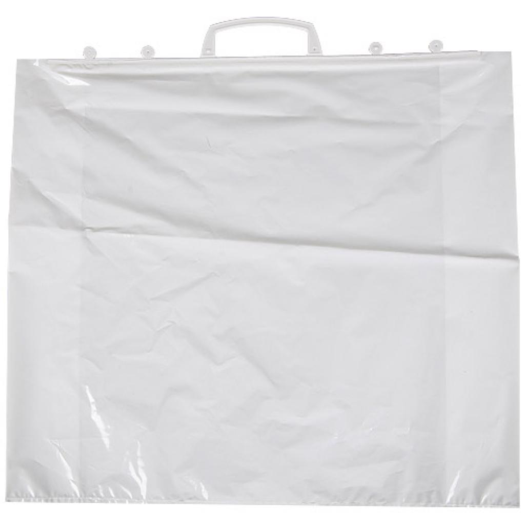 60µ LDPE bag with attached handles 58X15X60 cm