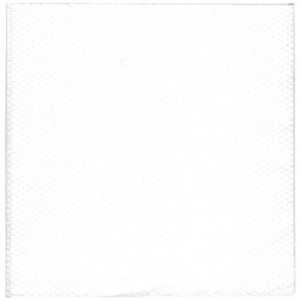 Serviette ouate blanche 1 pli 30x30 cm