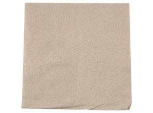 White single-fold quilted kraft paper napkin 30x30 cm