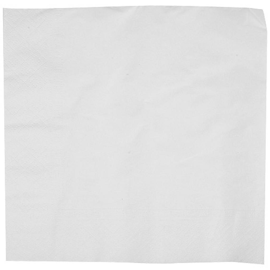 Serviette papier blanche 2 plis 30x30 cm