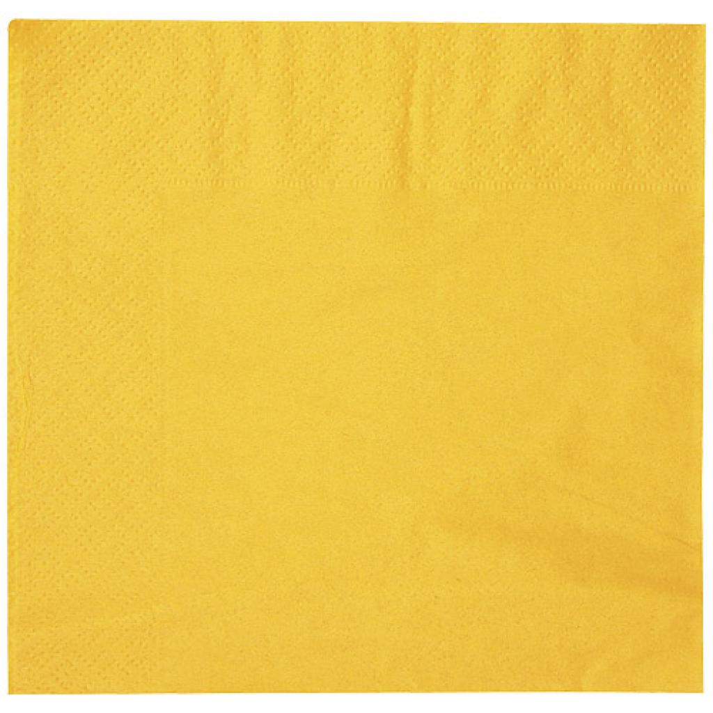 Yellow double-fold quilted napkin 30x30 cm