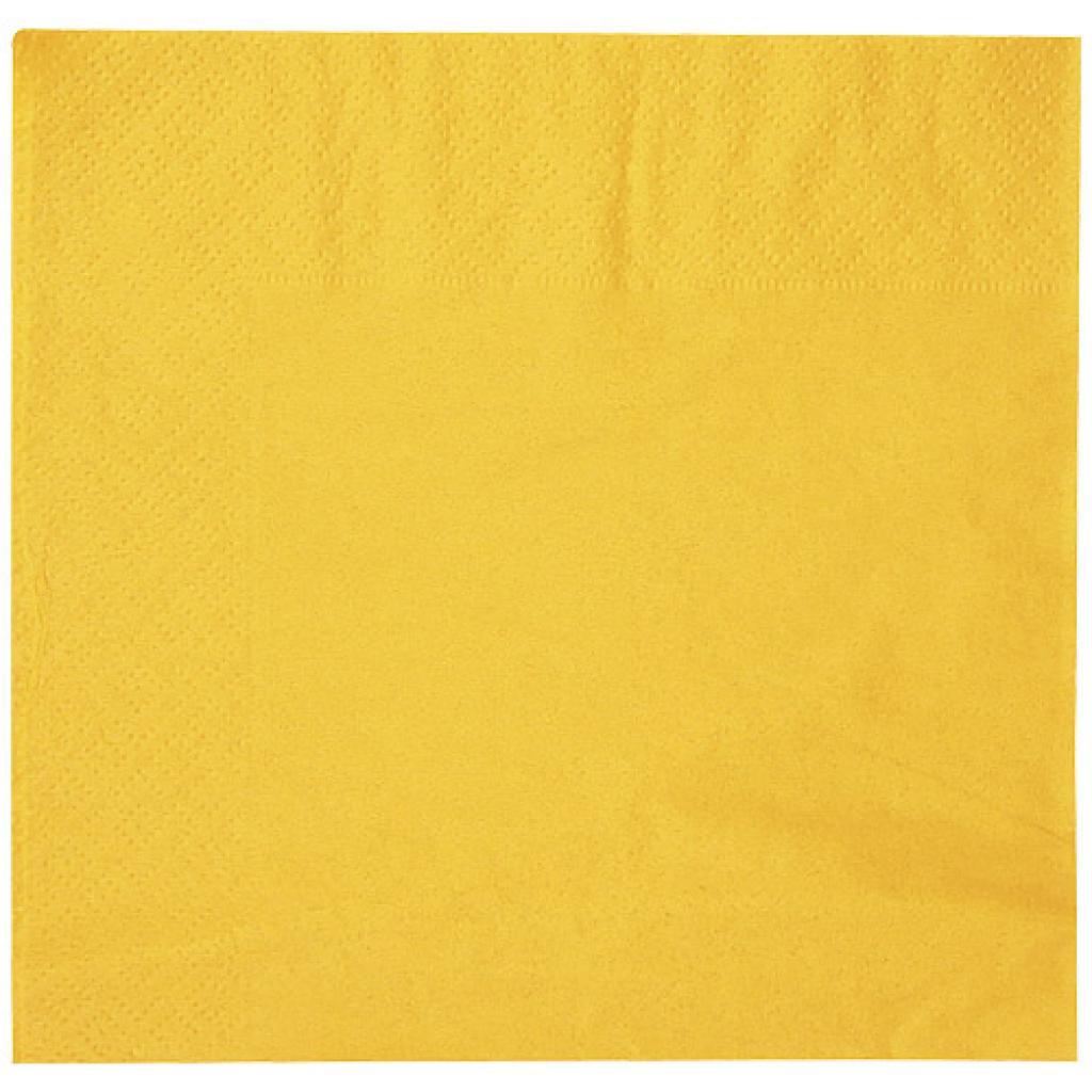 Serviette ouate jaune maïs 2 plis 30x30 cm