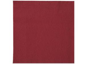 Burgundy double-fold quilted napkin 30x30 cm ***