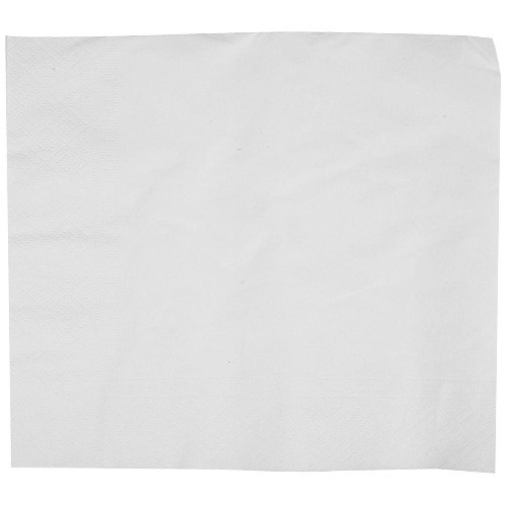 White double-fold quilted napkin 30x40 cm