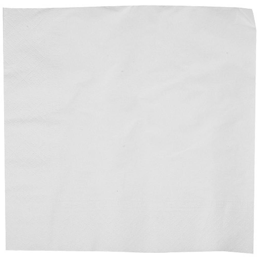 White double-fold quilted napkin 40x40 cm