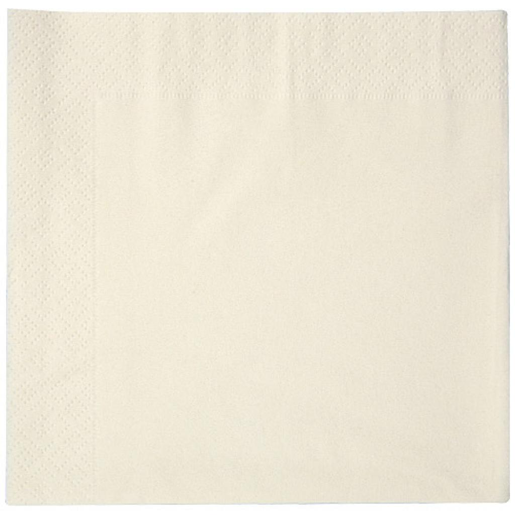 Ivory double-fold quilted napkin 38x38 cm