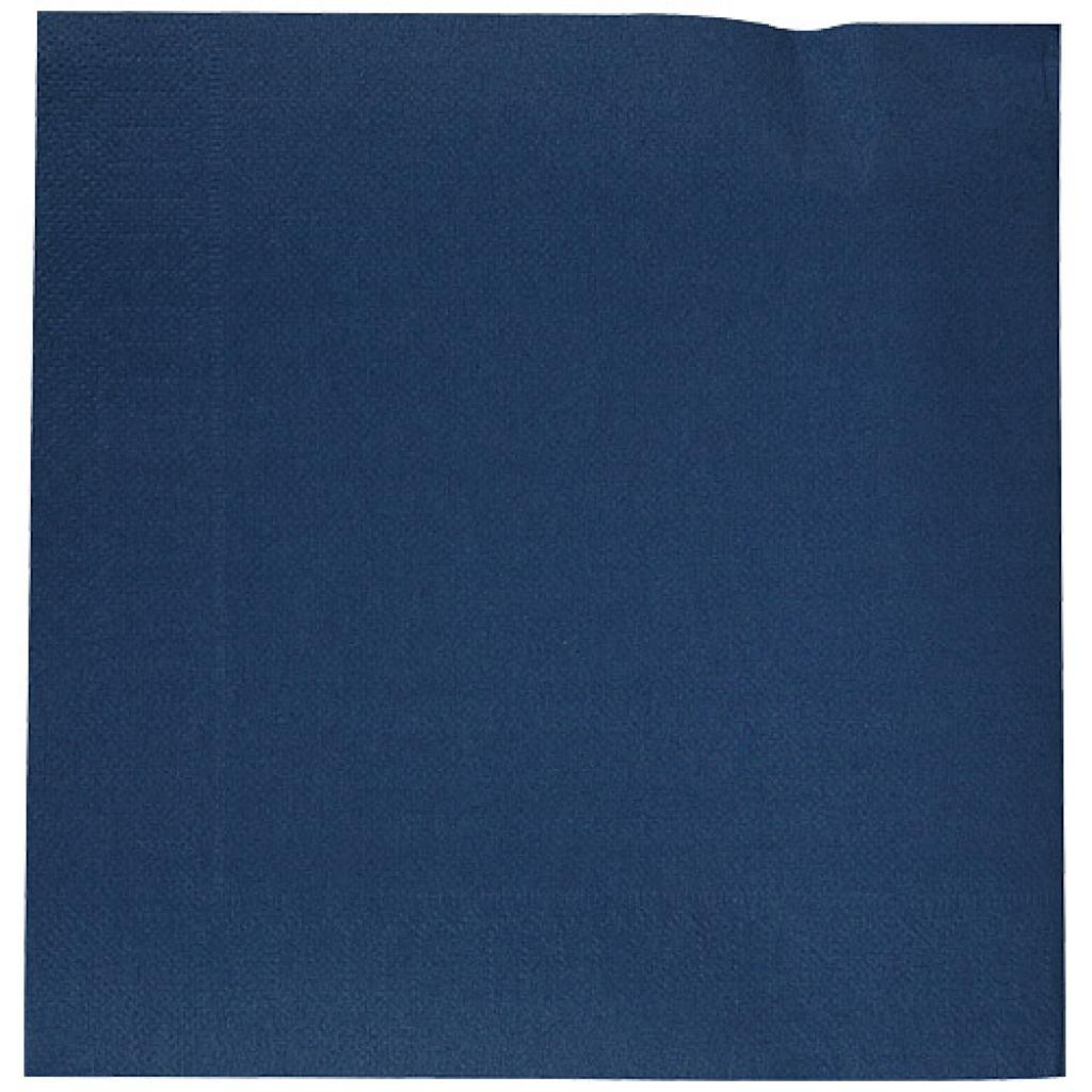 Navy blue double-fold quilted napkin 40x40 cm