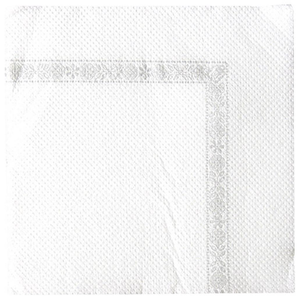 Serviette Papier cocktail double point 20x20 Blanche