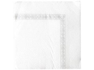 Serviette cocktail double point 20x20 blanche